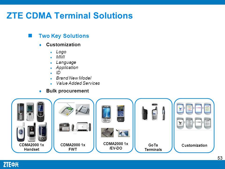 ZTE CDMA Terminal Solutions