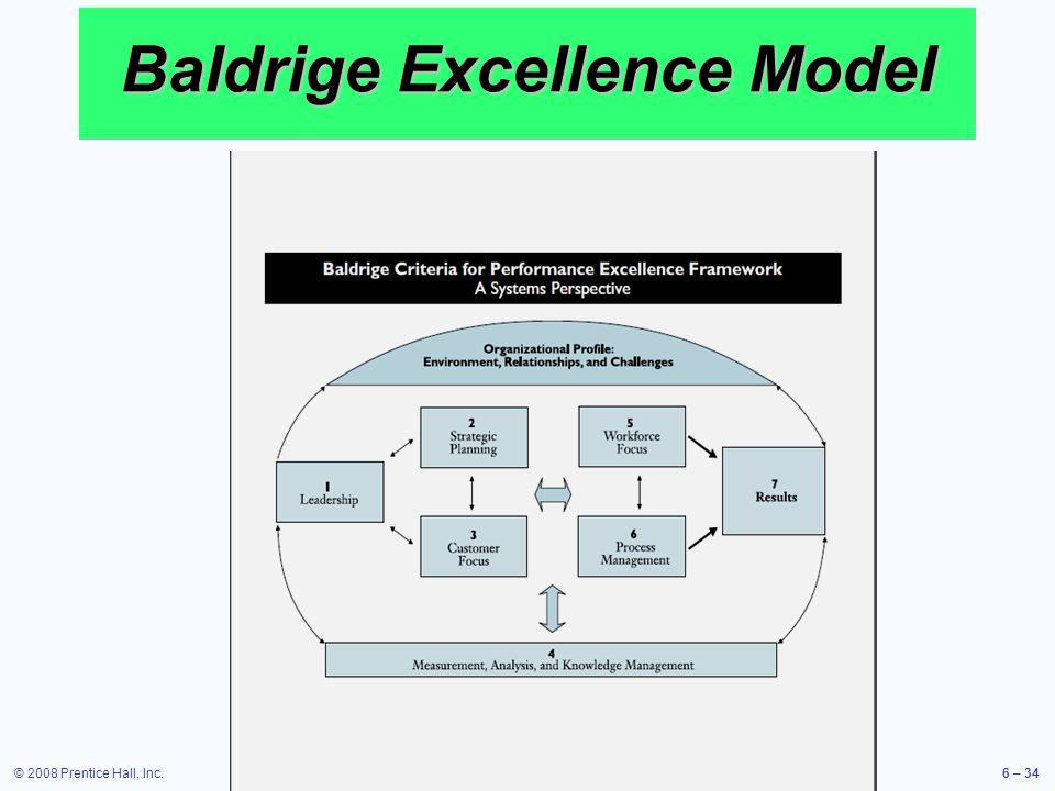 Baldrige Excellence Model
