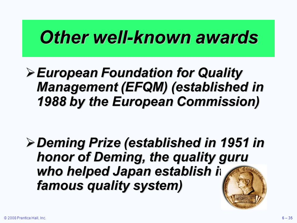 Other well-known awards