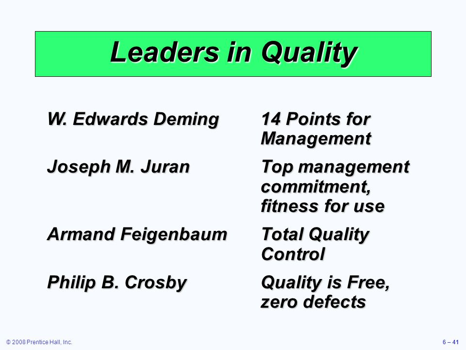 w edwards deming's 14 points W edwards deming a mission pursued on two continents w edwards deming, named an asq honorary member in 1970 for his role as adviser, consultant, author, and teacher to some of the most influential businessmen, corporations, and scientific pioneers of quality control, is the most widely known proponent of statistical quality control.