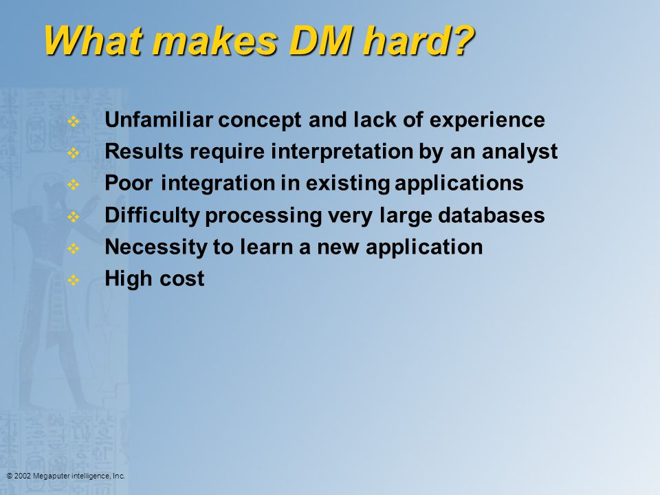 What makes DM hard Unfamiliar concept and lack of experience