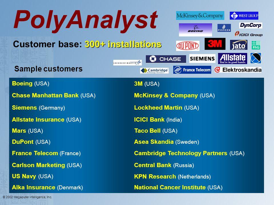 Customer base: 300+ installations