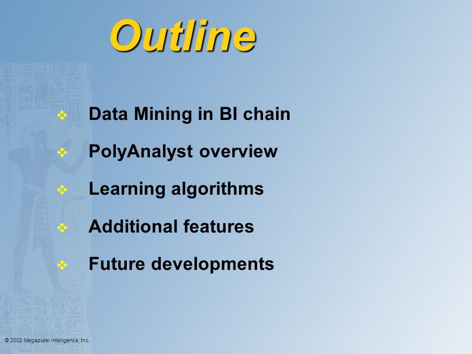 Outline Data Mining in BI chain PolyAnalyst overview