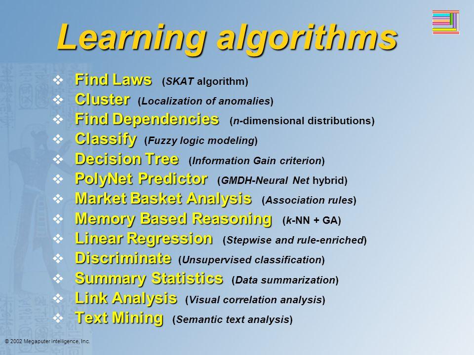 Learning algorithms Find Laws (SKAT algorithm)