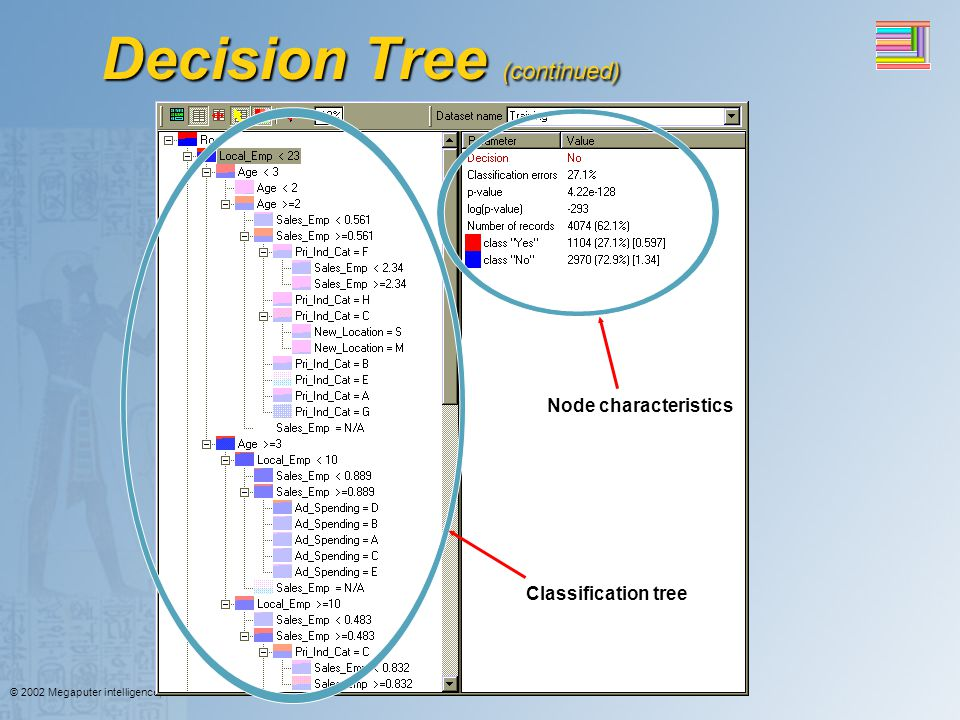 Decision Tree (continued)