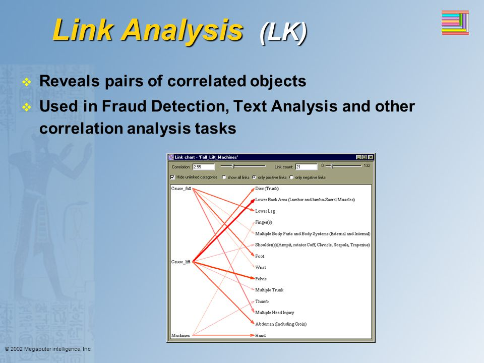 Link Analysis (LK) Reveals pairs of correlated objects
