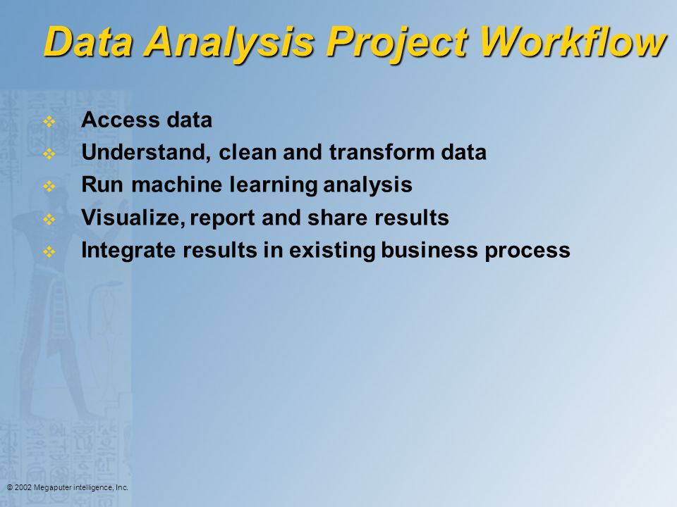 Data Analysis Project Workflow