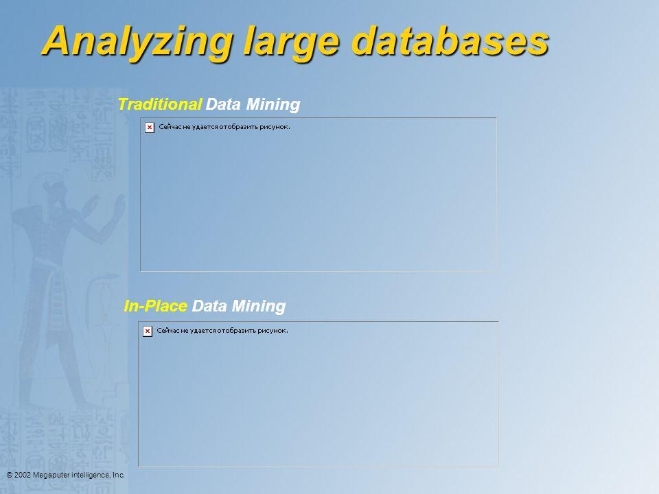 Analyzing large databases
