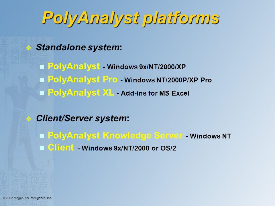 PolyAnalyst platforms