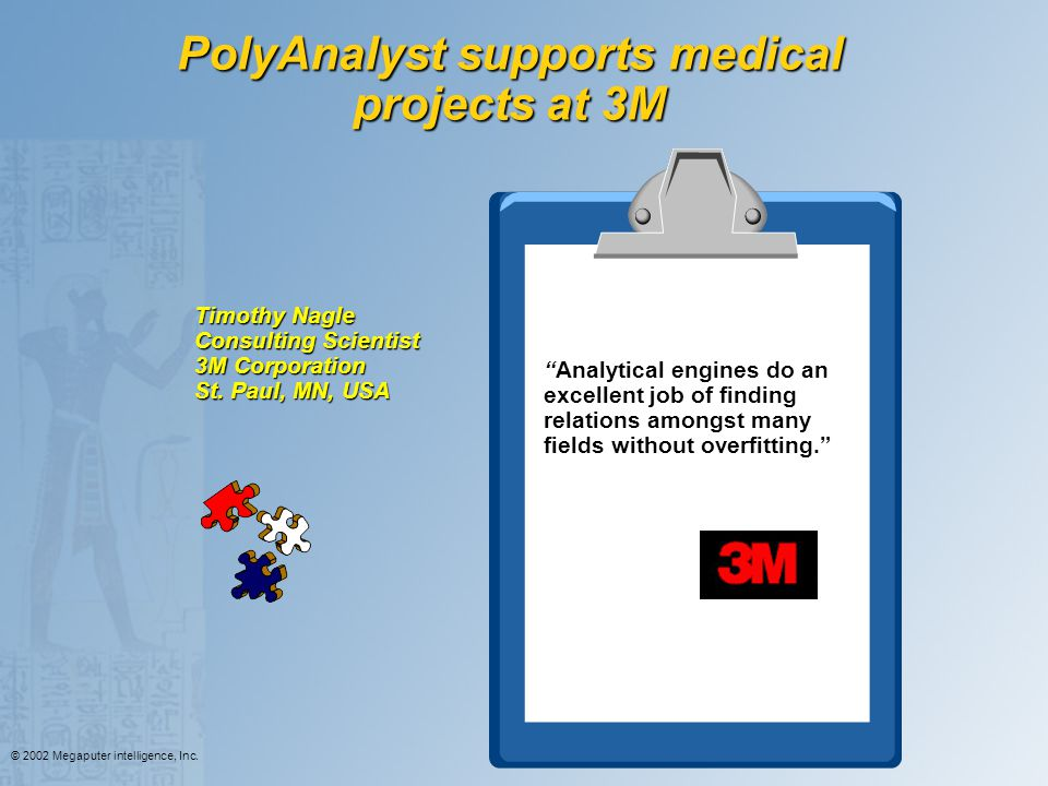 PolyAnalyst supports medical projects at 3M