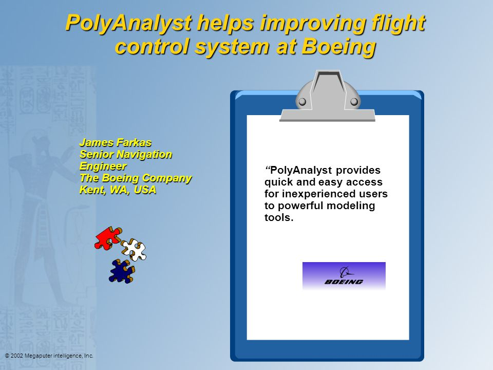 PolyAnalyst helps improving flight control system at Boeing