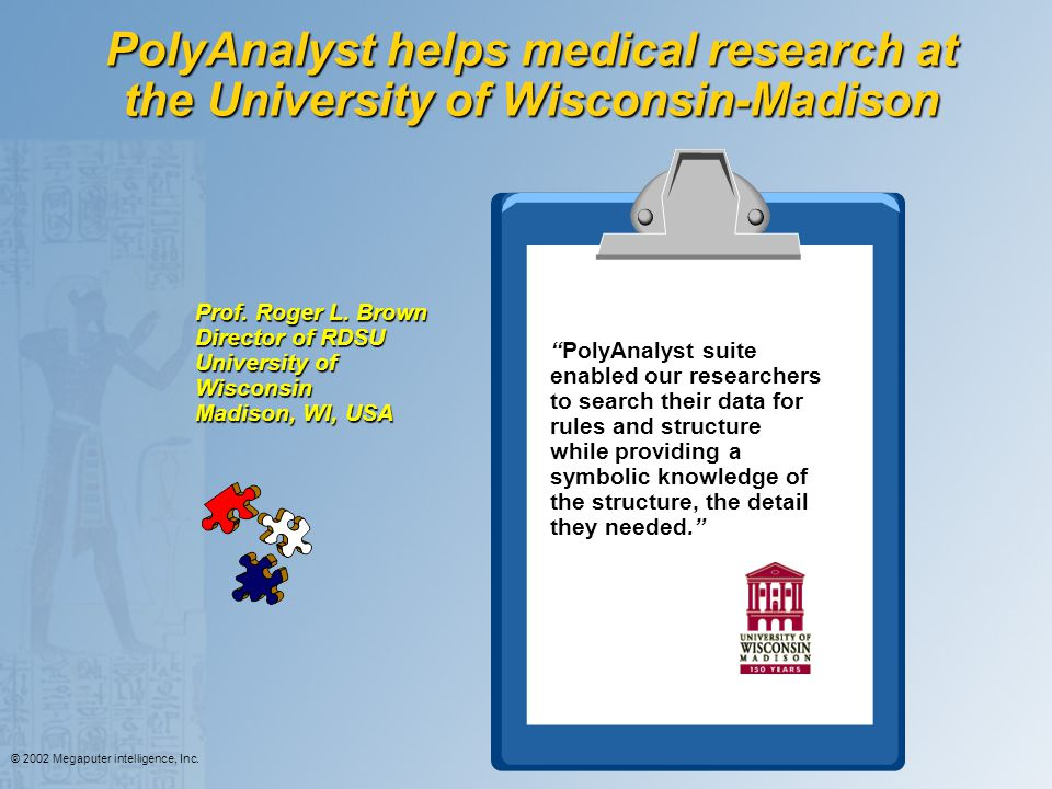 PolyAnalyst helps medical research at the University of Wisconsin-Madison