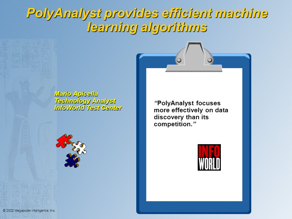 PolyAnalyst provides efficient machine learning algorithms