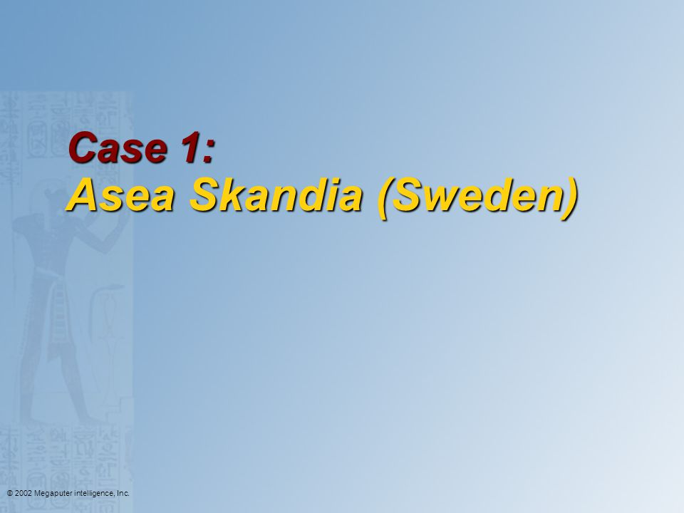 Case 1: Asea Skandia (Sweden)