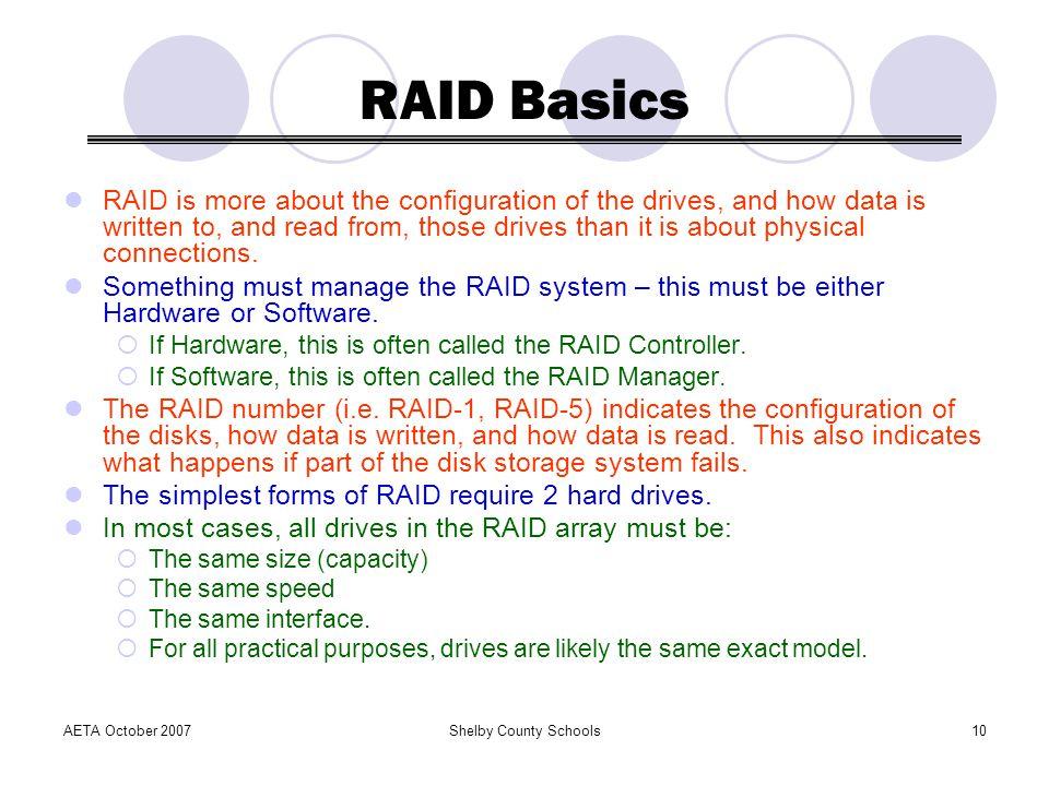 RAID Basics