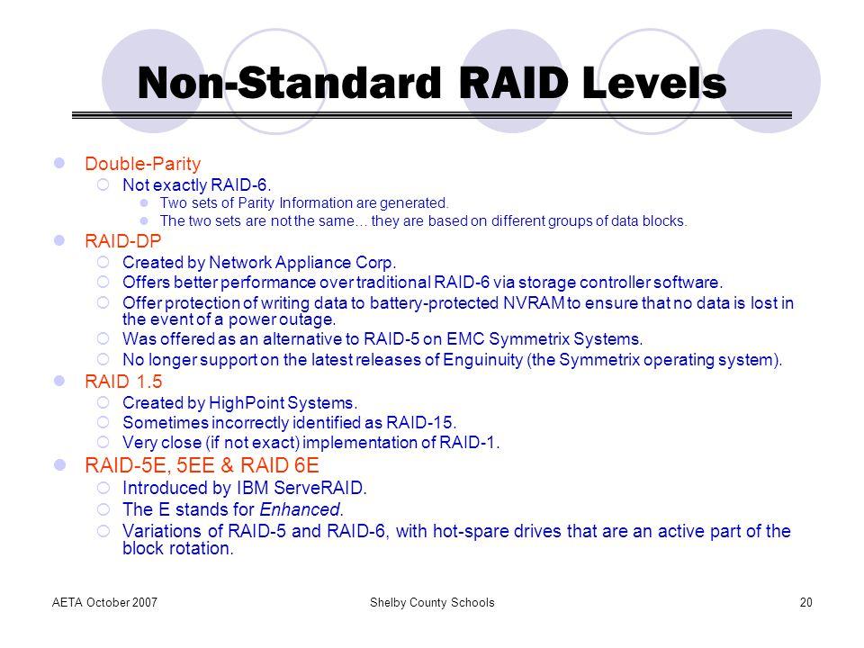Non-Standard RAID Levels