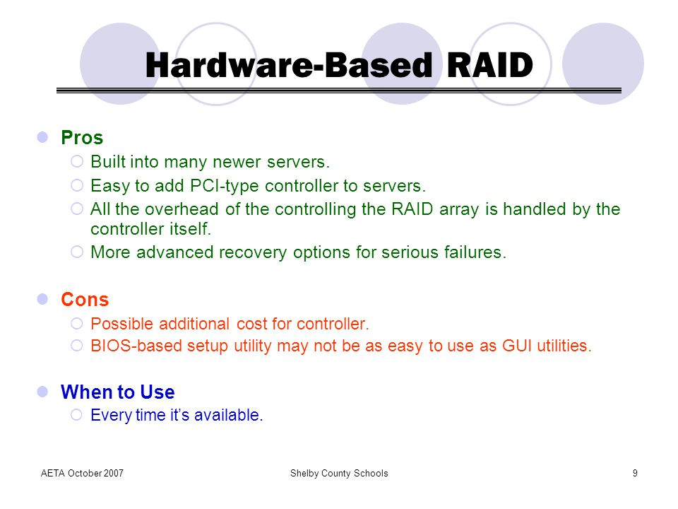 Hardware-Based RAID Pros Cons When to Use