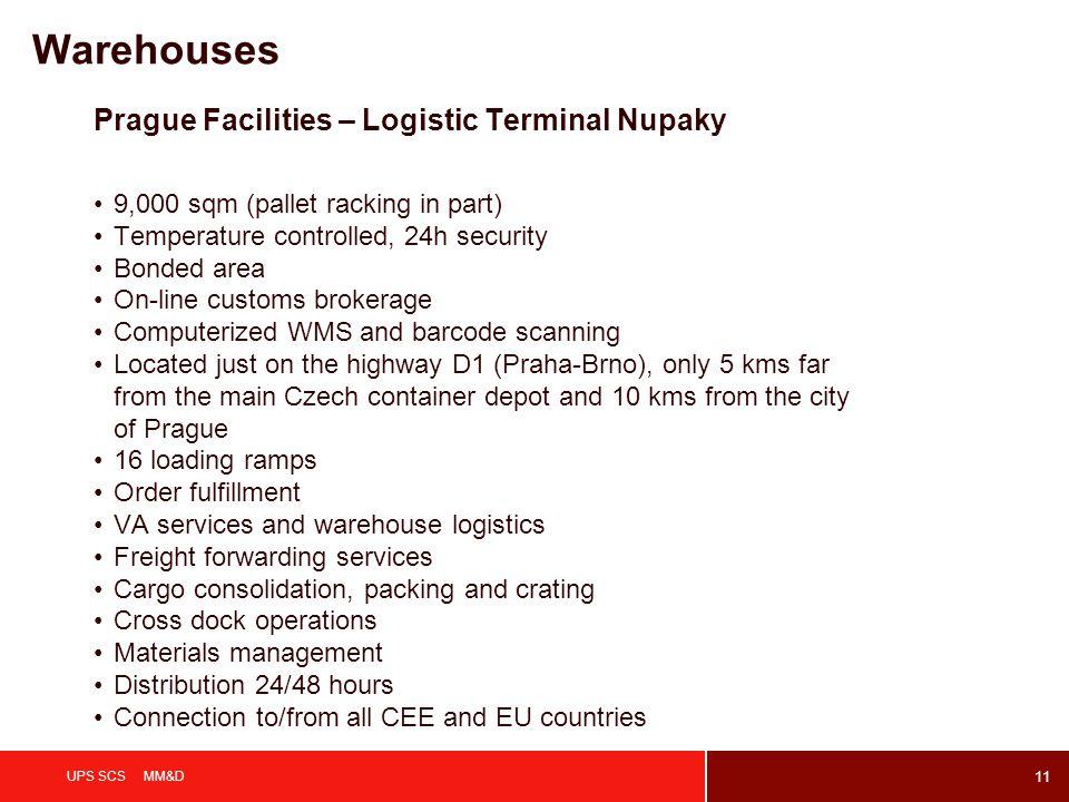 Warehouses Prague Facilities – Logistic Terminal Nupaky