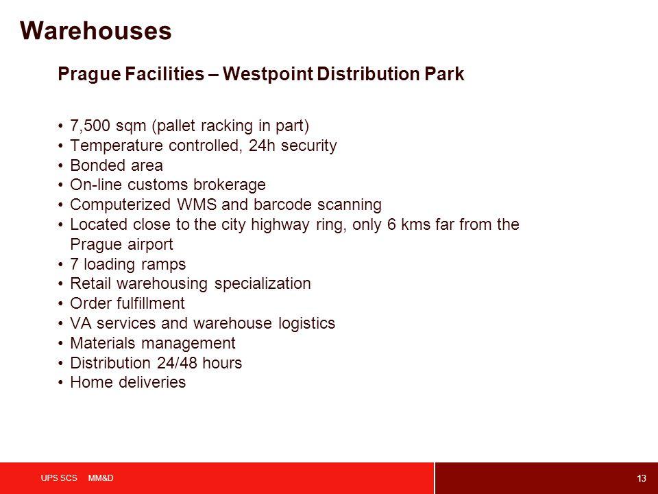 Warehouses Prague Facilities – Westpoint Distribution Park