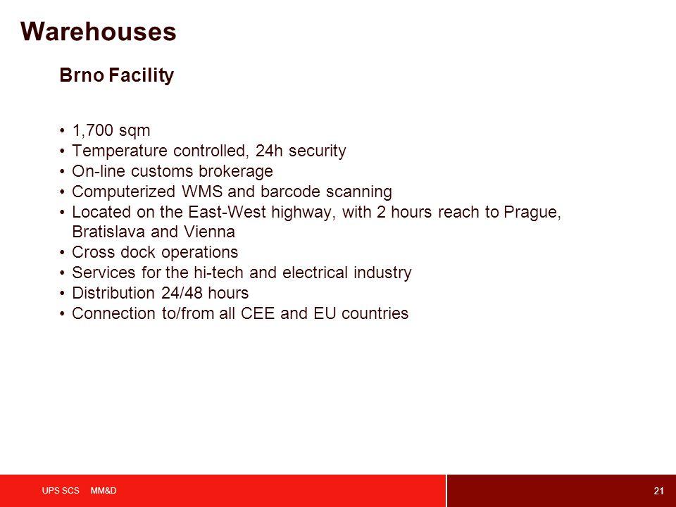 Warehouses Brno Facility 1,700 sqm
