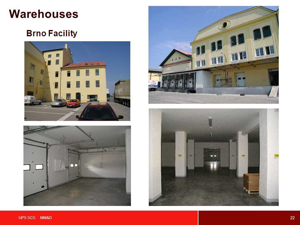 Warehouses Brno Facility UPS SCS MM&D
