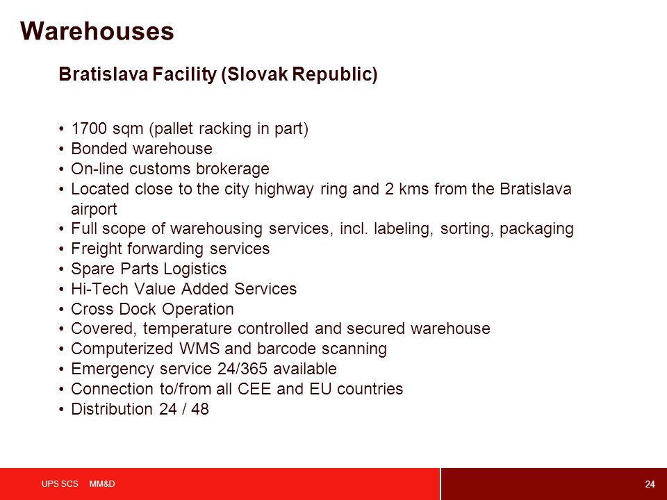 Warehouses Bratislava Facility (Slovak Republic)