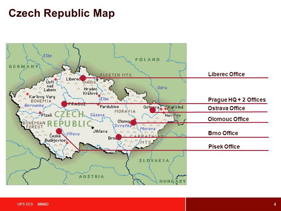 Czech Republic Map Liberec Office Prague HQ + 2 Offices Ostrava Office