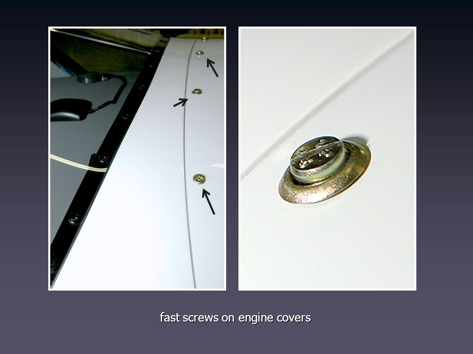 fast screws on engine covers