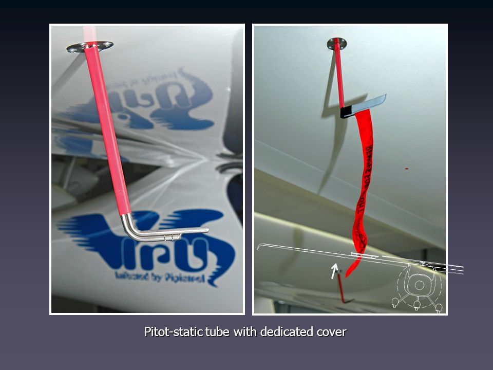 Pitot-static tube with dedicated cover