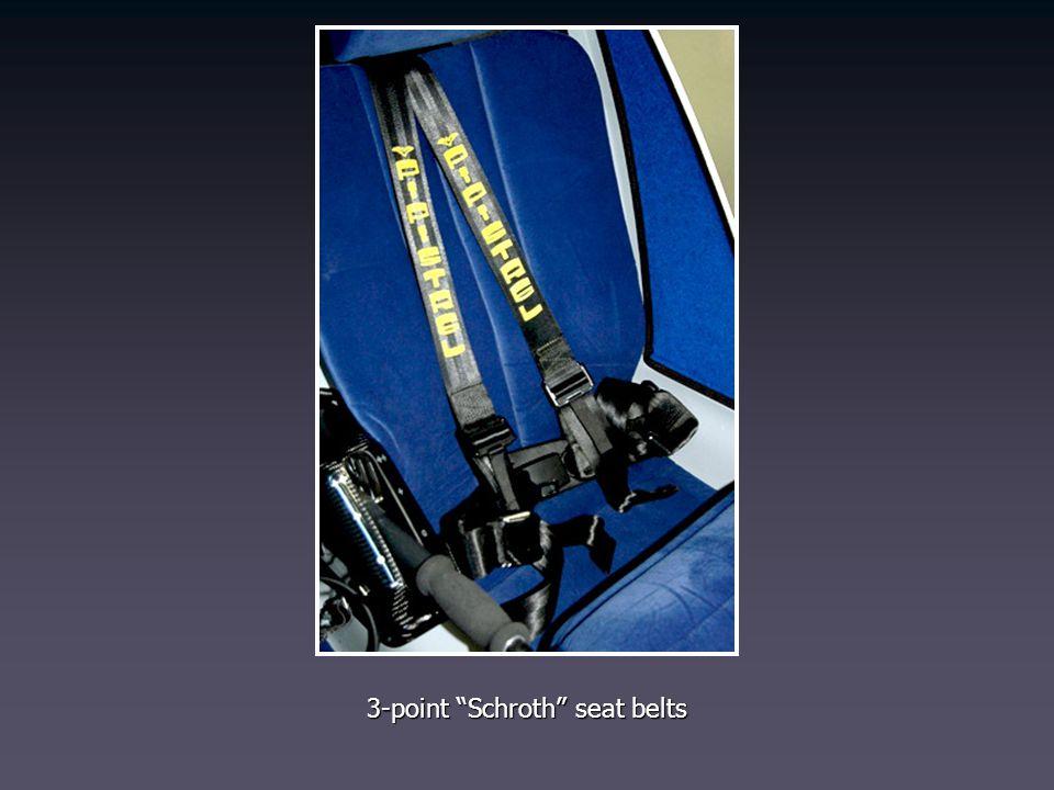3-point Schroth seat belts