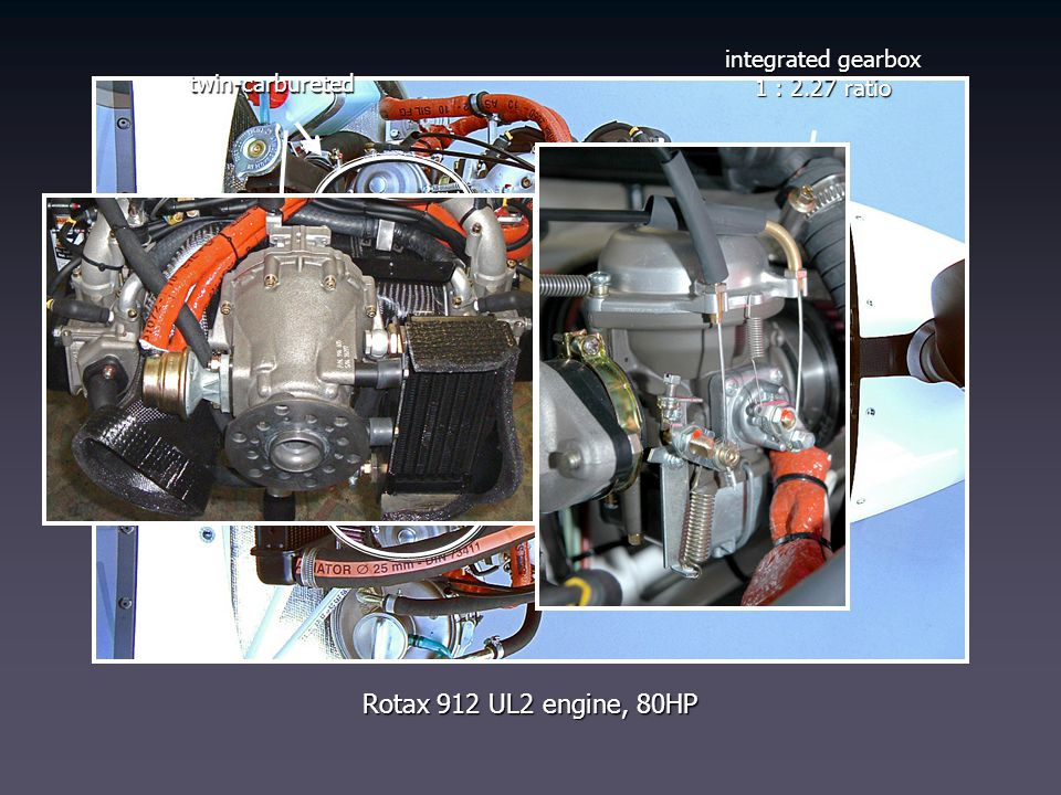 Rotax 912 UL2 engine, 80HP integrated gearbox 1 : 2.27 ratio