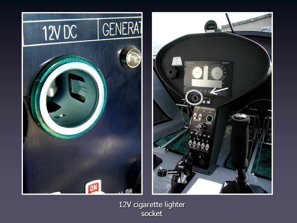 12V cigarette lighter socket