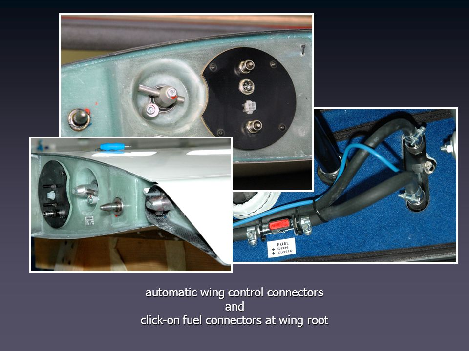 automatic wing control connectors and