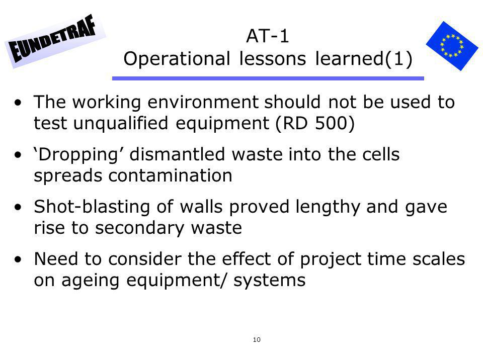 AT-1 Operational lessons learned(1)