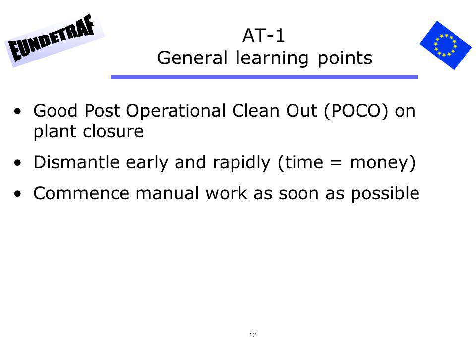 AT-1 General learning points