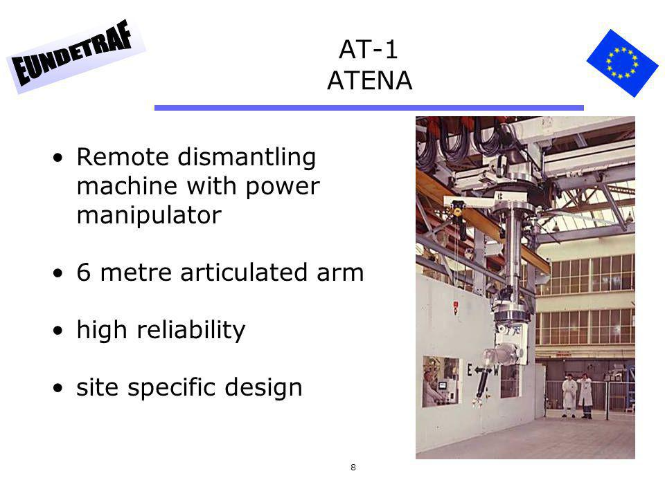 AT-1 ATENA Remote dismantling machine with power manipulator