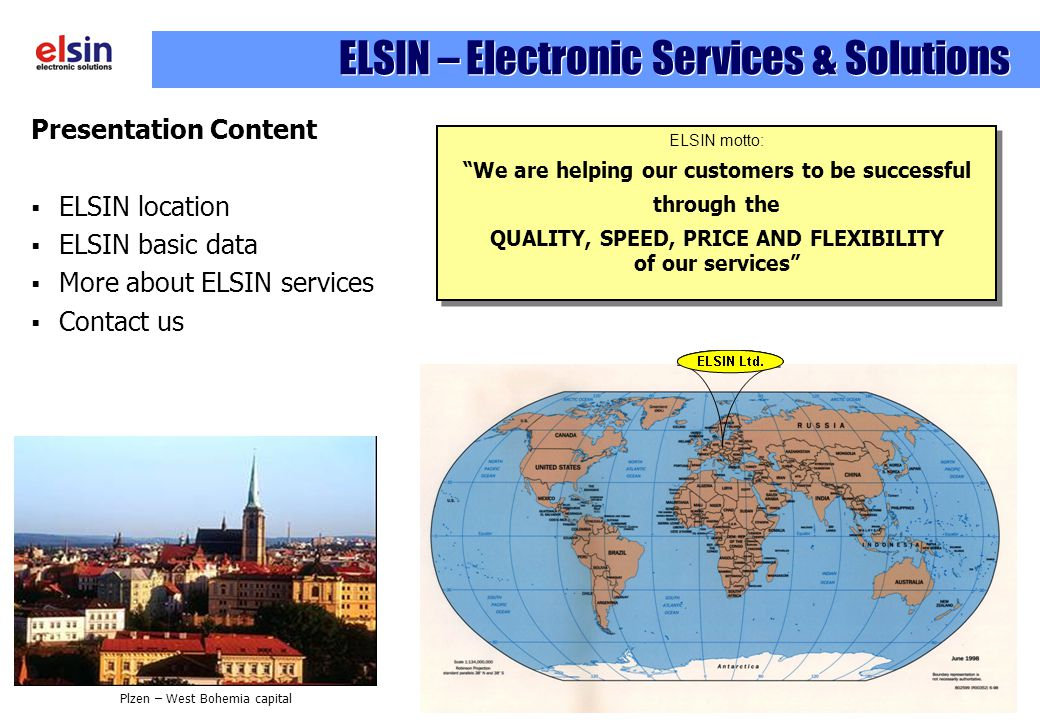 ELSIN – Electronic Services & Solutions
