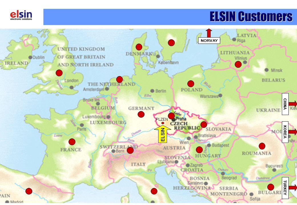 ELSIN Customers NORVAY TURKEY CHINA KOREA PLZEN ELSIN