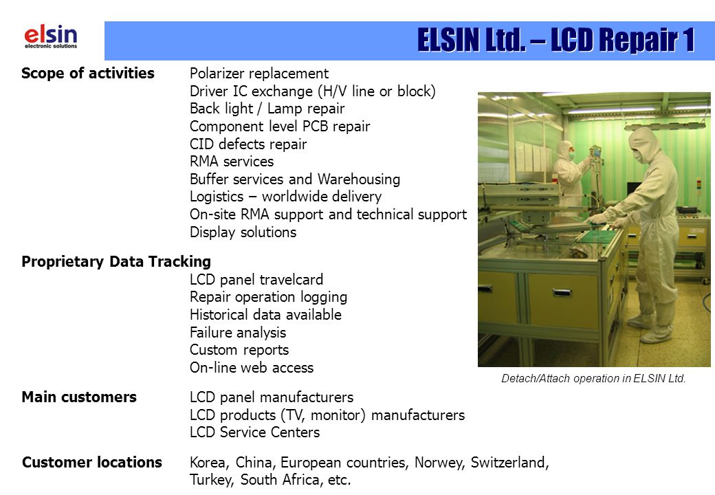 Detach/Attach operation in ELSIN Ltd.