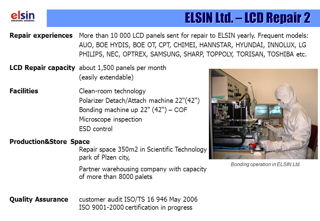 Bonding operation in ELSIN Ltd.