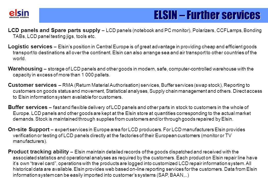 ELSIN – Further services