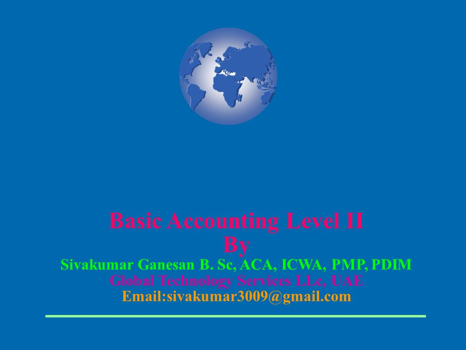 Basic Accounting Level II By