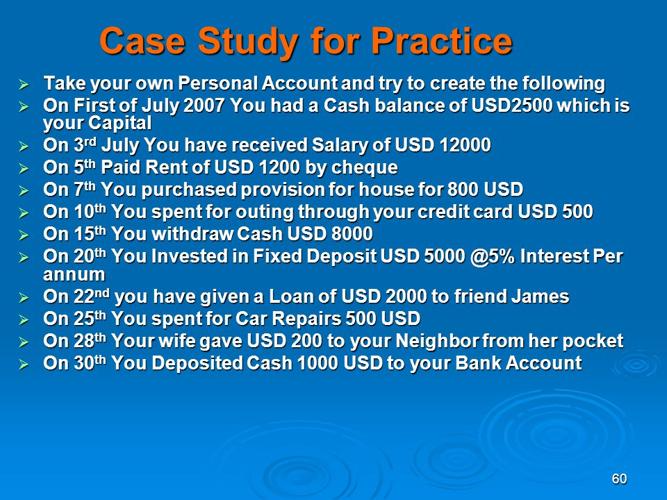 Case Study for Practice