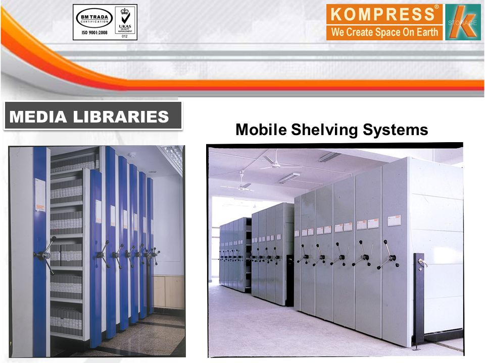 MEDIA LIBRARIES Mobile Shelving Systems