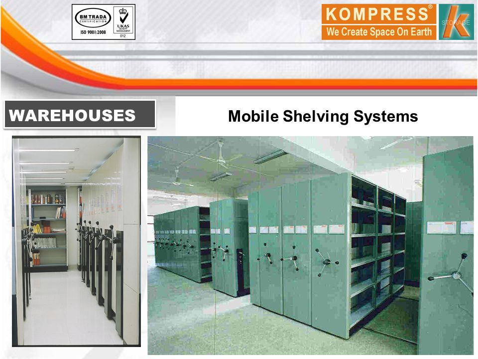 WAREHOUSES Mobile Shelving Systems