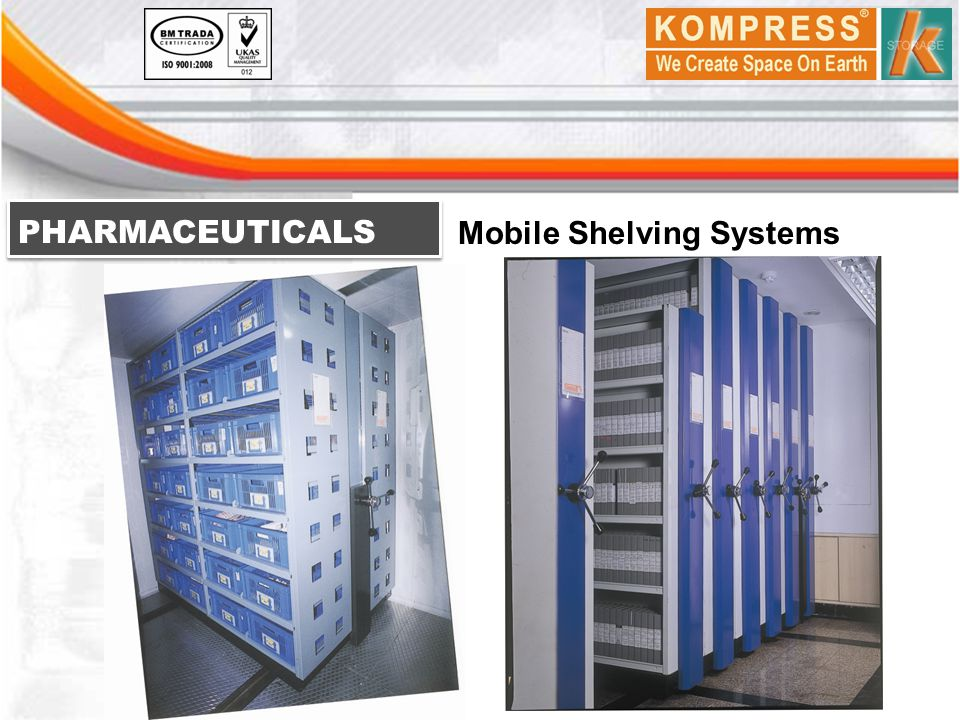 PHARMACEUTICALS Mobile Shelving Systems