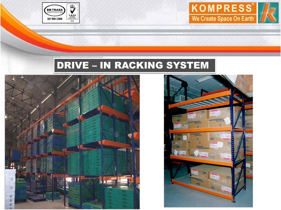 DRIVE – IN RACKING SYSTEM