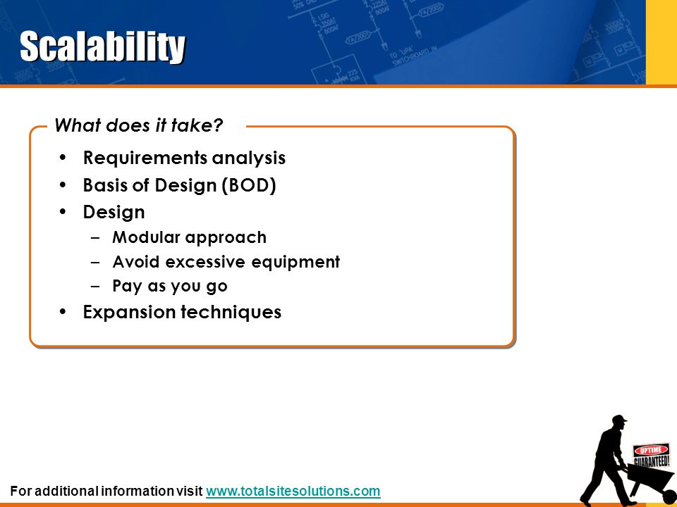 Scalability What does it take Requirements analysis
