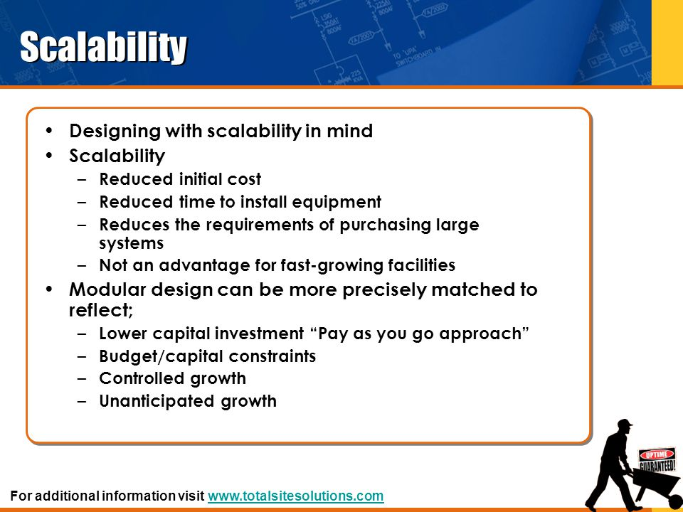 Scalability Designing with scalability in mind Scalability