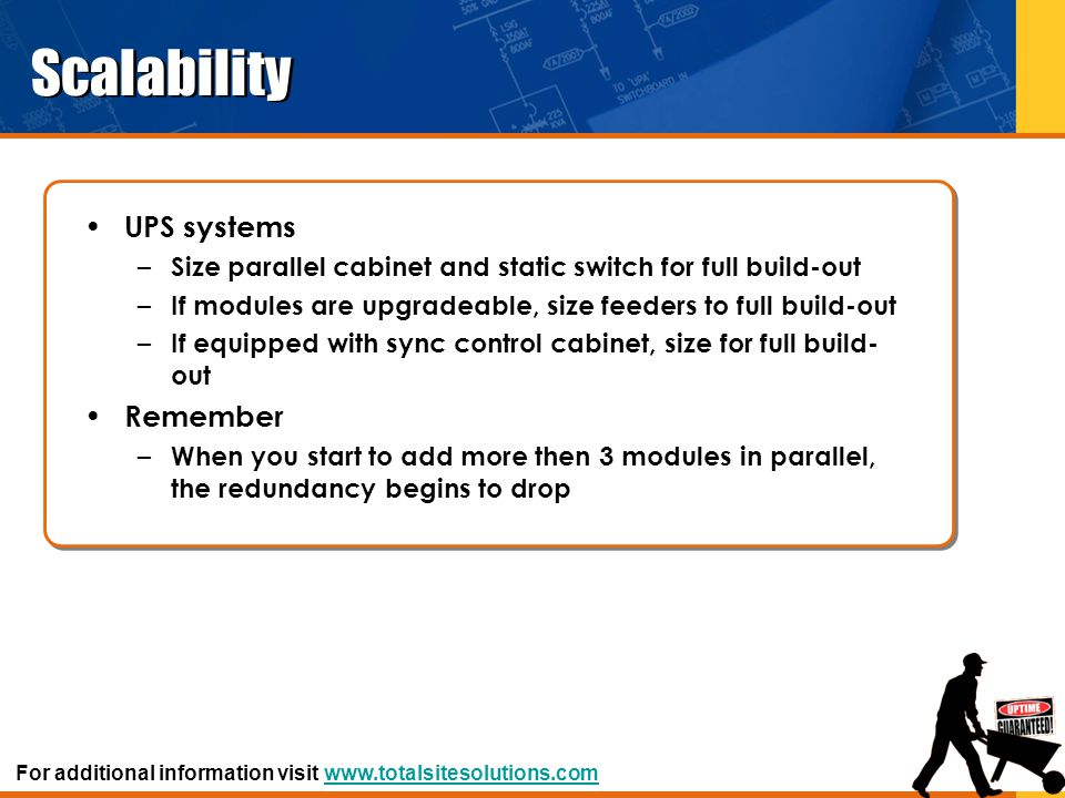 Scalability UPS systems Remember
